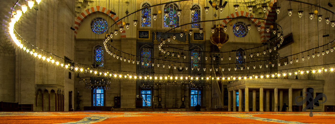 Lights in mosque